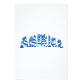 """América azul invitación 3.5"""" x 5"""""""