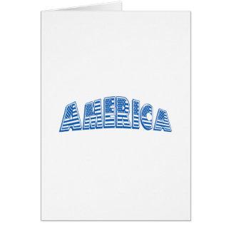 América azul tarjeta de felicitación