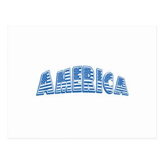 América azul tarjetas postales