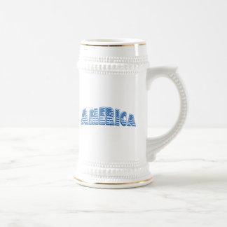 América azul jarra de cerveza