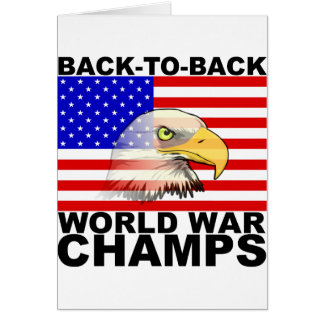 America: Back to Back World War Champs Card