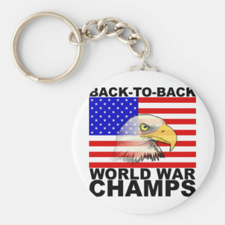 America: Back to Back World War Champs Keychain