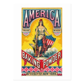America Baking Powder Post Cards