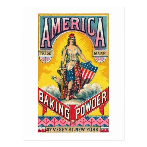 America Baking Powder Postcard