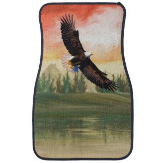 America Bald Eagle In Flight Car Floor Mat
