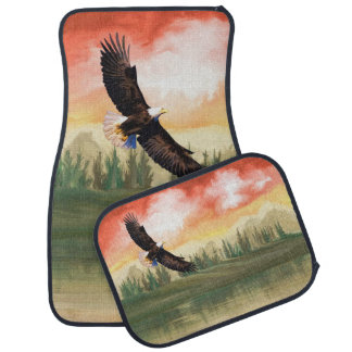 America Bald Eagle In Flight Car Floor Mat