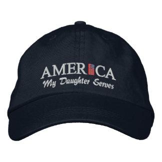 America Baseball Cap - My Daughter Serves