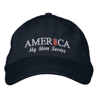 America Baseball Cap - My Mom Serves