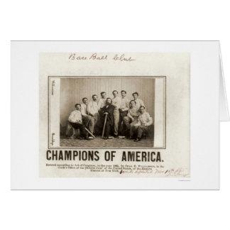 America Baseball Champions 1865 Card