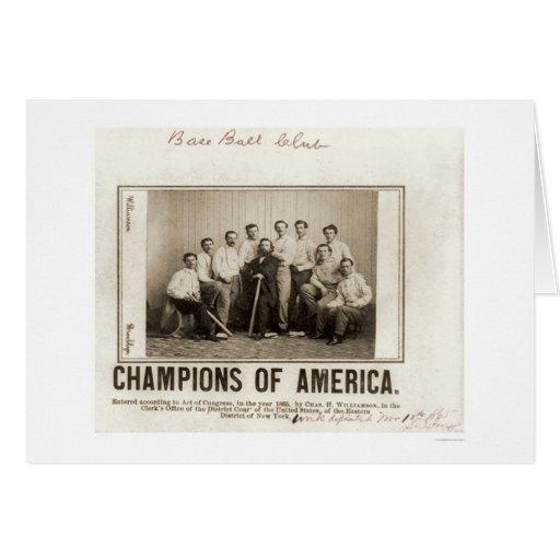 America Baseball Champions 1865 Greeting Cards