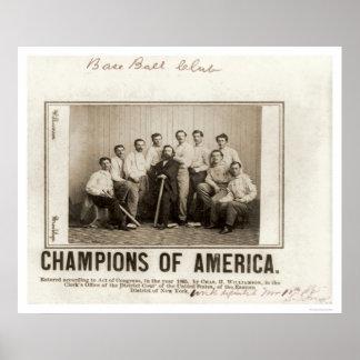 America Baseball Champions 1865 Posters