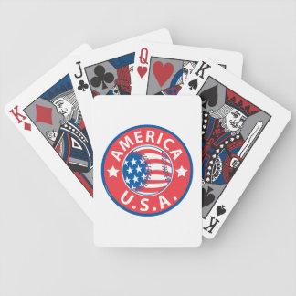 America Baseball USA Bicycle Playing Cards