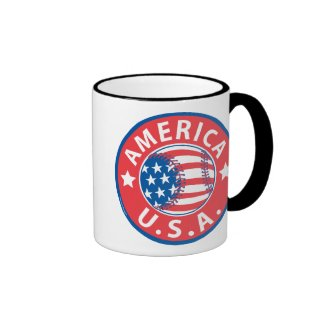 America Baseball Mug