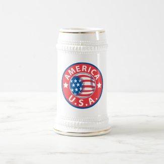 America Baseball USA Mug