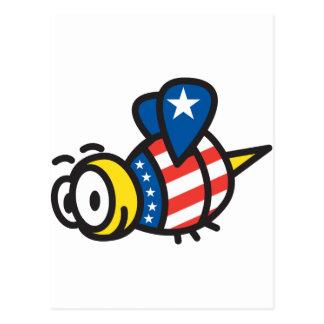 America Bee Postcard