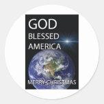 América bendecida dios pegatina redonda