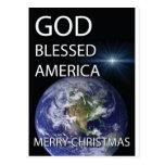 América bendecida dios postal