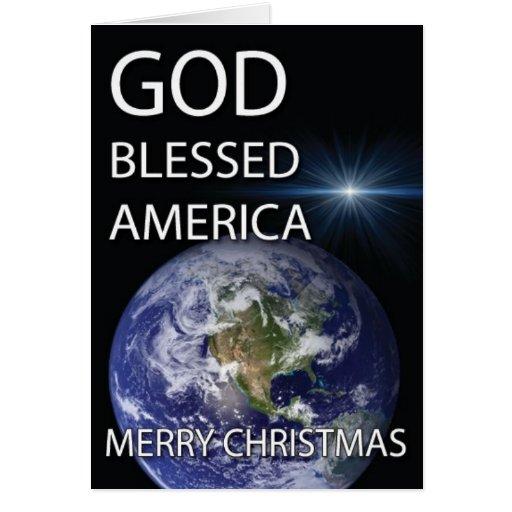 América bendecida dios tarjeton
