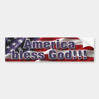 América bendice a dios Bumpersticker Pegatina Para Auto