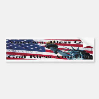 América bendice a dios II Pegatina Para Auto