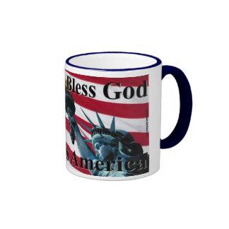 América bendice a dios II Taza A Dos Colores