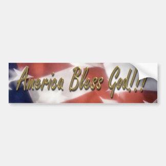 ¡América bendice a dios!!! Pegatina De Parachoque