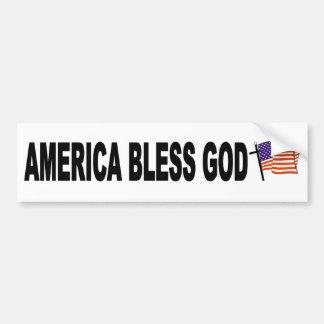 América bendice a dios pegatina para auto