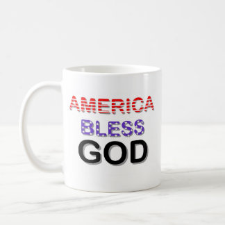 América bendice a dios taza básica blanca