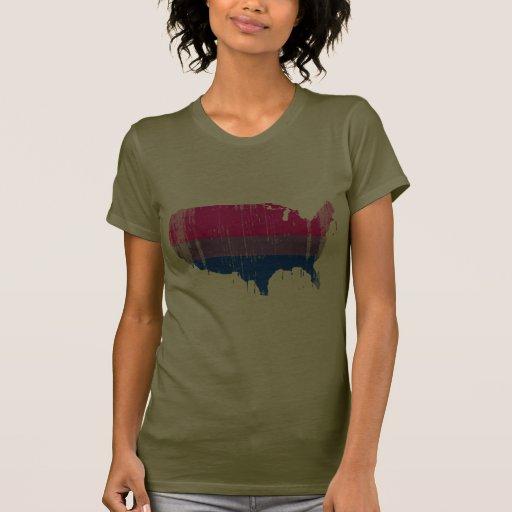 América bisexual distressed.png camisetas