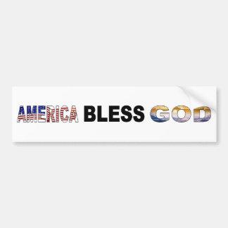 America Bless God Bumper Sticker