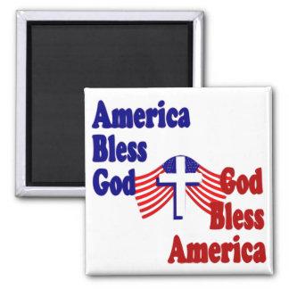 America Bless God...God Bless America Fridge Magnets