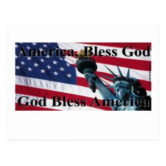 America Bless God II Postcard
