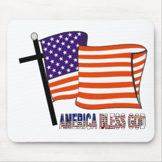 America Bless God Mouse Pad