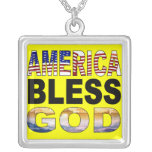 America Bless God Necklace