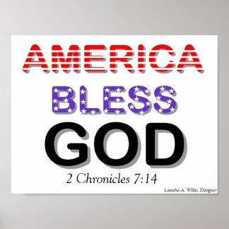 America Bless God Poster