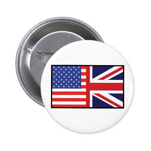 America Britain 2 Inch Round Button
