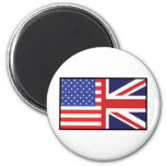 America Britain 2 Inch Round Magnet