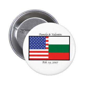 america_bulgaria_pam pinback buttons
