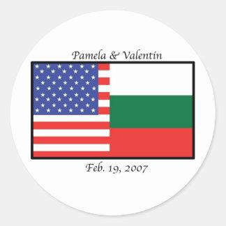america_bulgaria_pam round stickers