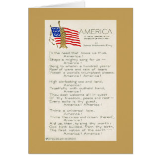 America by James Whitcomb Riley Stationery Note Card