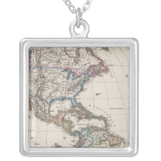 America by Stieler Square Pendant Necklace