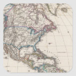 America by Stieler Square Sticker