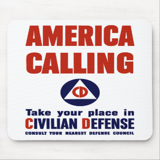 America Calling -- Civilian Defense Mousepads