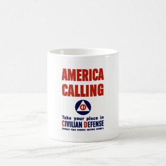 America Calling -- Civilian Defense Mugs