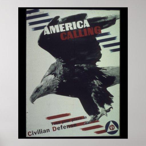 America_Calling-_(Eagle)_Propaganda Poster