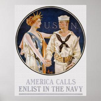 America Calls Poster