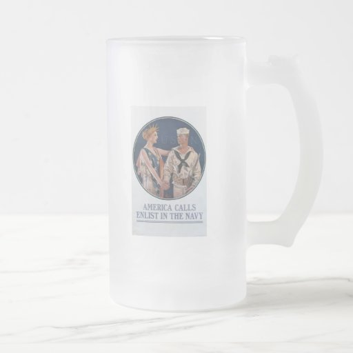 America Calls World War 2 Coffee Mugs