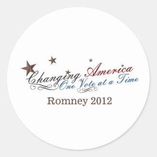 América cambiante pegatinas redondas