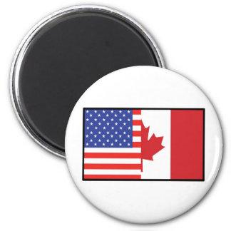 America Canada 2 Inch Round Magnet