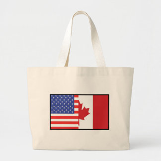 América Canadá Bolsa Tela Grande